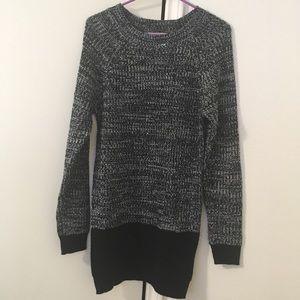 Smokey-black Knit Sweater Dress
